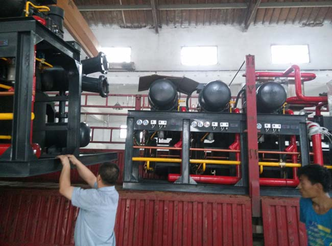 安徽巢湖莱富康3并联冷库制冷机组安装